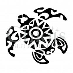 Tortue tribale n°1309 pochoir chloïs Glittertattoo pour tatouage temporaire