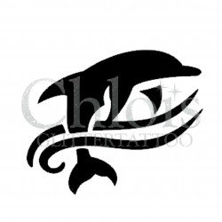 Dauphin °1311 pochoir chloïs Glittertattoo pour tatouage temporaire