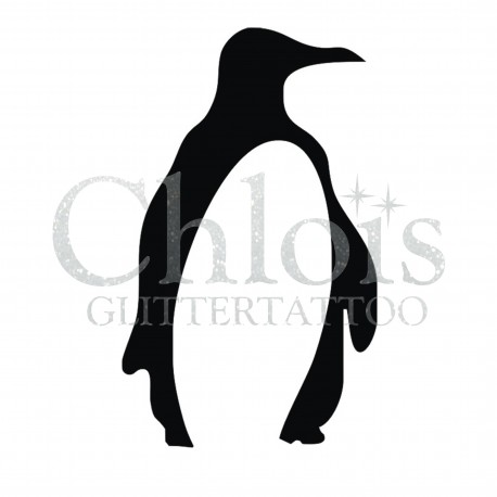 Pinguin n°1315 pochoir chloïs Glittertattoo pour tatouage temporaire