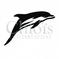 Elegant Dauphin °1316 pochoir chloïs Glittertattoo pour tatouage temporaire