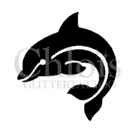 Dauphin °1317 pochoir chloïs Glittertattoo pour tatouage temporaire
