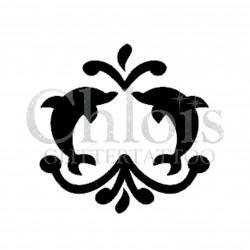 Dauphins fontaine °1320 pochoir chloïs Glittertattoo pour tatouage temporaire