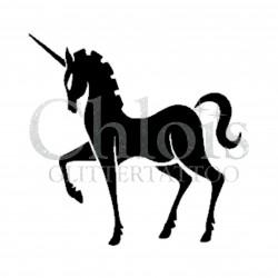 Licorne n°1405 pochoir chloïs Glittertattoo pour tatouage temporaire