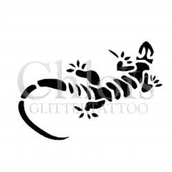 Lézard n° 1500 - pochoir pour tatouages à paillette ou encre de Chloïs Glittertattoo