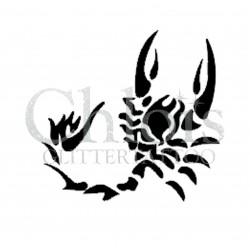 Scorpion n° 1501 - pochoir pour tatouages à paillette ou encre de Chloïs Glittertattoo
