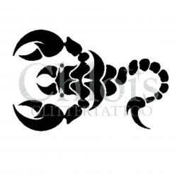 Scorpion n° 1502 - pochoir pour tatouages à paillette ou encre de Chloïs Glittertattoo
