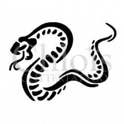 Serpent n° 1505 - pochoir pour tatouages à paillette ou encre de Chloïs Glittertattoo