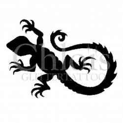 Gecko2 n° 1508 - pochoir pour tatouages à paillette ou encre de Chloïs Glittertattoo