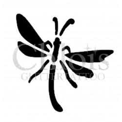 Libellule n°1600 pochoir pour tatouage temporaire