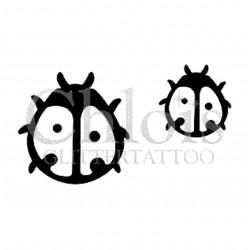 Coccinelle n°1603 pochoir pour tatouage temporaire