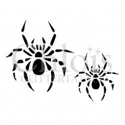 Duo d'araignée n°1604 pochoir pour tatouage temporaire