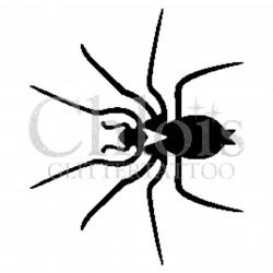 Araignée n°1605 pochoir pour tatouage temporaire