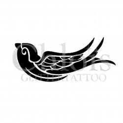 Oiseau n° 1700 pochoir chloïs Glittertattoo pour tatouage temporaire