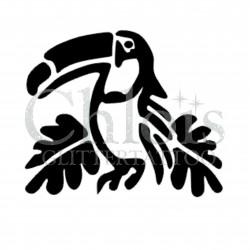 Toucan n° 1703 pochoir chloïs Glittertattoo pour tatouage temporaire