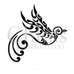 Oiseau élégant n° 1705 pochoir chloïs Glittertattoo pour tatouage temporaire