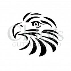 Tête d'aigle n° 1709 pochoir chloïs Glittertattoo pour tatouage temporaire