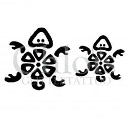 Duo de tortues n°1800 pochoir chloïs Glittertattoo pour tatouage temporaire