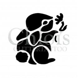 Mignon petit lapin n°1802 pochoir chloïs Glittertattoo pour tatouage temporaire