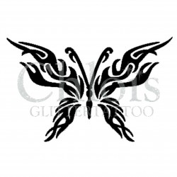Papillon tribal n°2000 pochoir pour tatouage temporaire