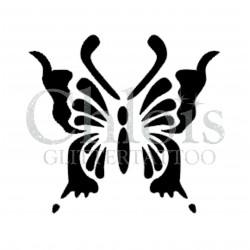 Papillon Suzy n°2001 pochoir pour tatouage temporaire