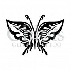 Papillon Alice n°2002 pochoir pour tatouage temporaire