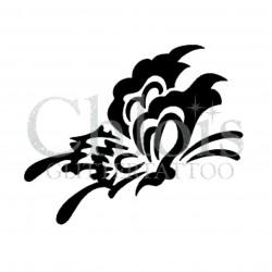 Papillon Sandra n°2004 pochoir pour tatouage temporaire