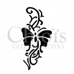 Papillon Plante n°2006 pochoir pour tatouage temporaire