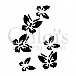 Groupe de papillon n°2007 pochoir pour tatouage temporaire