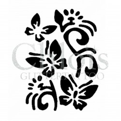 Papillons n°2008 pochoir pour tatouage temporaire