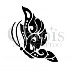 Papillon Side n°2014 pochoir pour tatouage temporaire