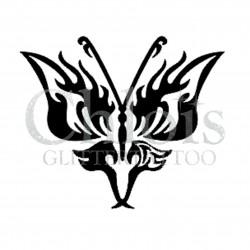 Papillon Jolien n°2016 pochoir pour tatouage temporaire