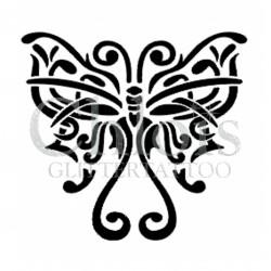 Papillon Steffie n°2017 pochoir pour tatouage temporaire