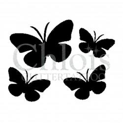 Papillons n°2022 pochoir pour tatouage temporaire