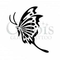 Papillon Shianna n°2023 pochoir pour tatouage temporaire