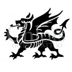 Dragon Médiéval n°2501 tatouage temporaire