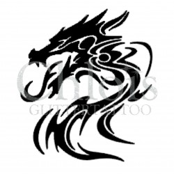 Dragon Tribal n°2504 tatouage temporaire