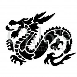 Dragon Feu n°2507 tatouage temporaire