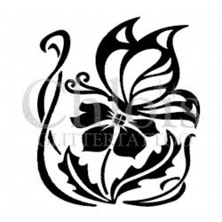 Fleur n° 3002 pochoir pour tatouage temporaire