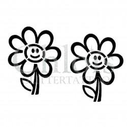Happy Flower n° 3004 pochoir pour tatouage temporaire