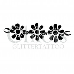 Fleurs d'arbre n° 3011 pochoir pour tatouage temporaire
