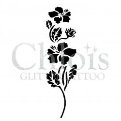 Hibiscus n° 3013 pochoir pour tatouage temporaire