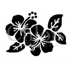 Hibiscus Lux n° 3014 pochoir pour tatouage temporaire