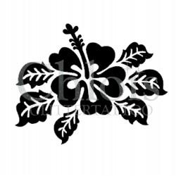 Hibiscus Leaf n° 3015 pochoir pour tatouage temporaire