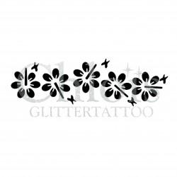 Bracelet Hibiscus n° 3017 pochoir pour tatouage temporaire