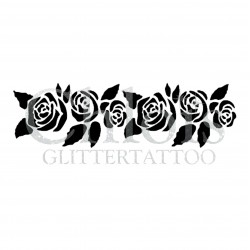 Bracelet de Roses n° 3018 pochoir pour tatouage temporaire