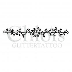 Rose n° 3020 pochoir pour tatouage temporaire