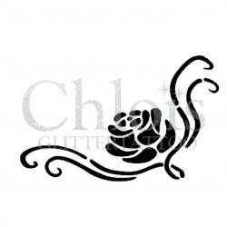 Rose Caro n° 3022 pochoir pour tatouage temporaire