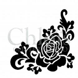 Rose n° 3023 pochoir pour tatouage temporaire