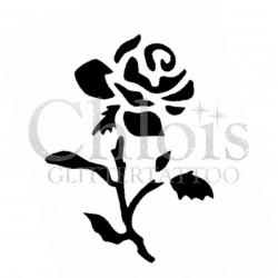 Rose Amber n° 3026 pochoir pour tatouage temporaire