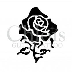 Rose Fenne n° 3027 pochoir pour tatouage temporaire